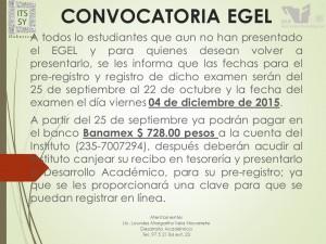 CONVOCATORIA EGEL